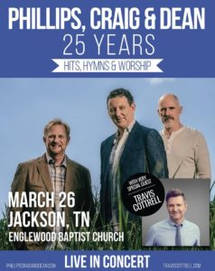 Phillips Craig and Dean in Jackson, TN with very special guest Travis Cottrell