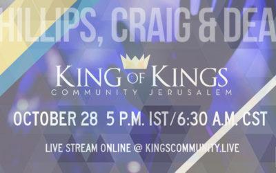 Phillips, Craig and Dean at King of Kings Community Jerusalem October 28